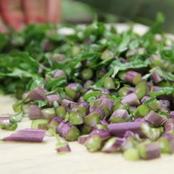 Recipes from the Road: Kale Stems
